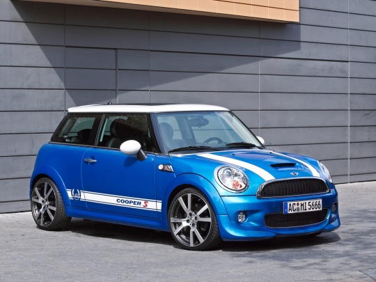 blue-mini-cooper-car